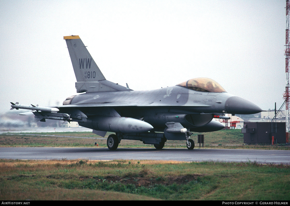 Aircraft Photo of 90-0810 / AF90-810 | General Dynamics F-16CJ Fighting Falcon | USA - Air Force | AirHistory.net #84747
