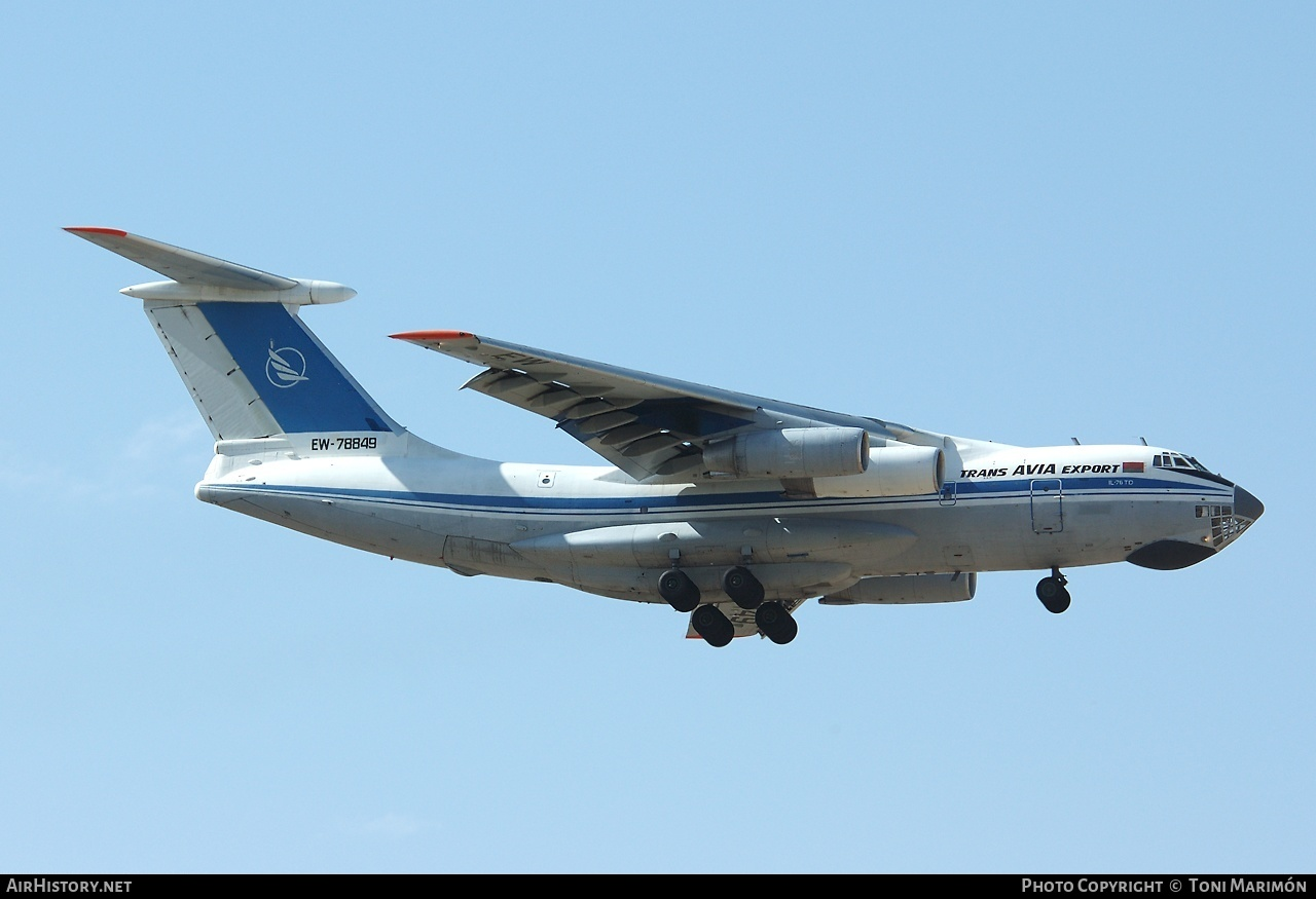Aircraft Photo of EW-78849 | Ilyushin Il-76TD | Trans Avia Export | AirHistory.net #84973