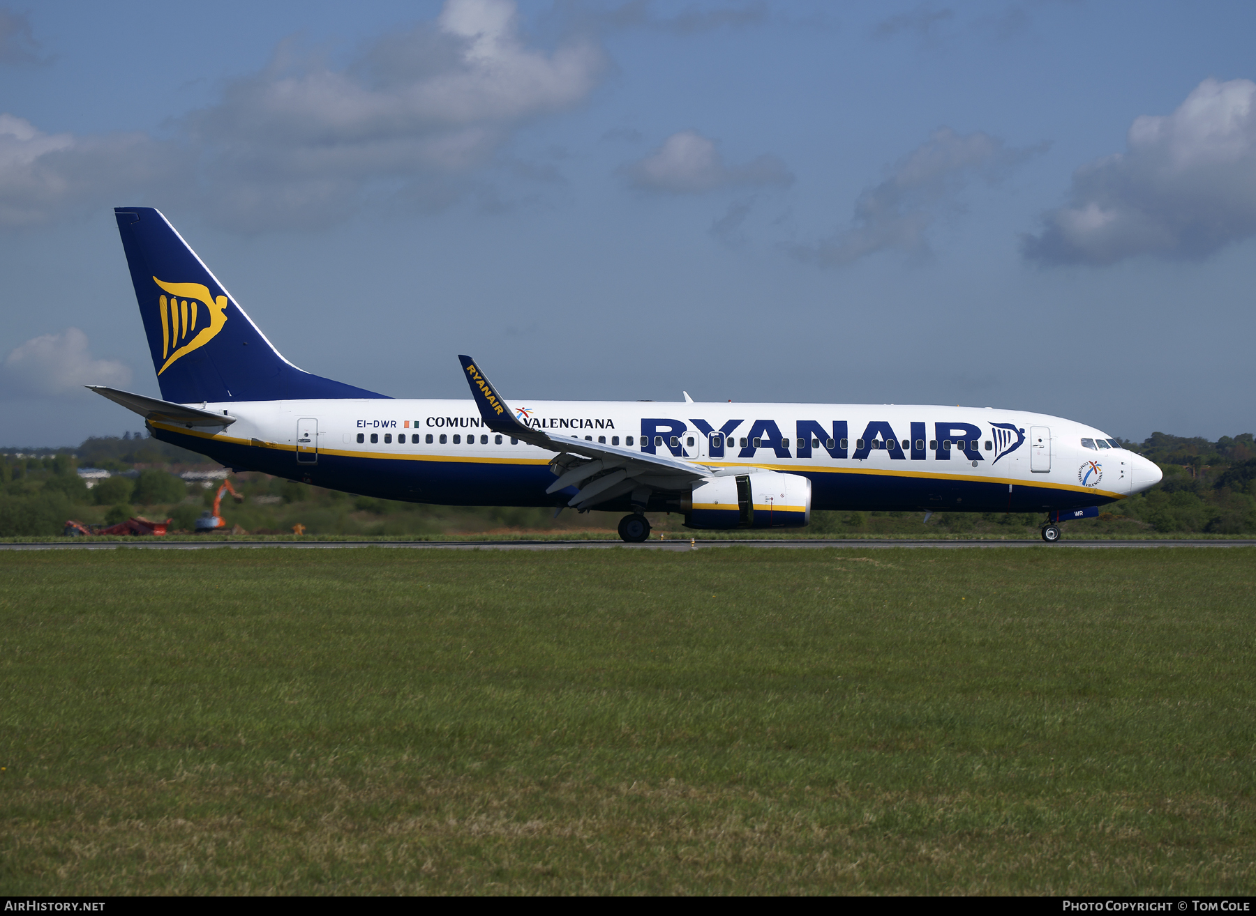 Aircraft Photo of EI-DWR | Boeing 737-8AS | Ryanair | AirHistory.net #85058