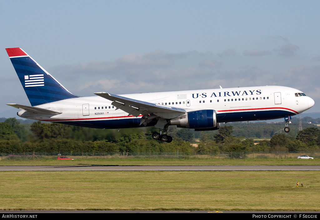 Aircraft Photo of N250AY | Boeing 767-201/ER | US Airways | AirHistory.net #85221