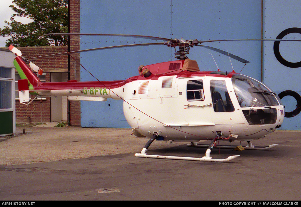 Aircraft Photo of G-BFYA | MBB BO-105DB | AirHistory.net #86387