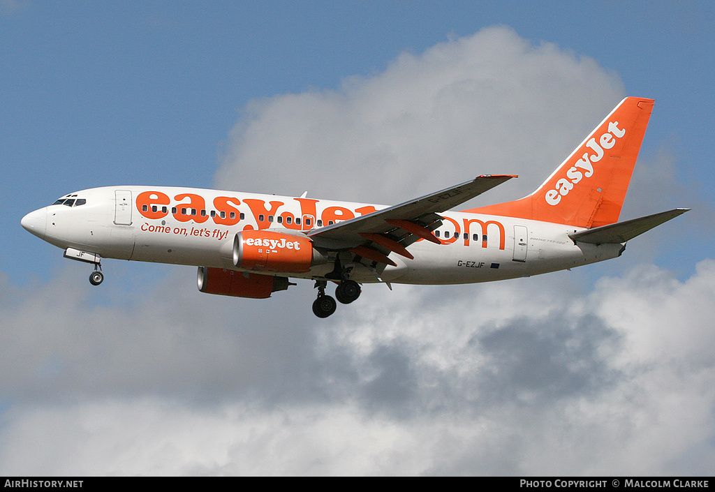 Aircraft Photo of G-EZJF | Boeing 737-73V | EasyJet | AirHistory.net #86535
