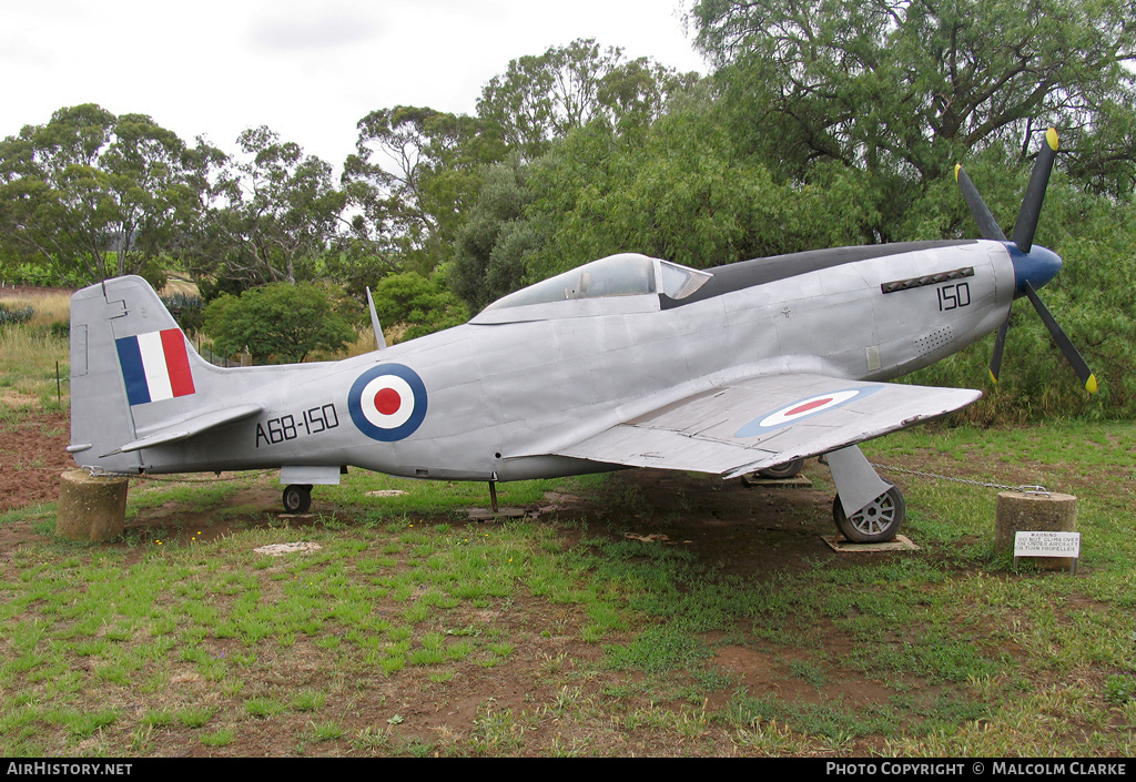 Aircraft Photo of A68-150 | Commonwealth CA-18 Mustang 23 (P-51D) (replica) | Australia - Air Force | AirHistory.net