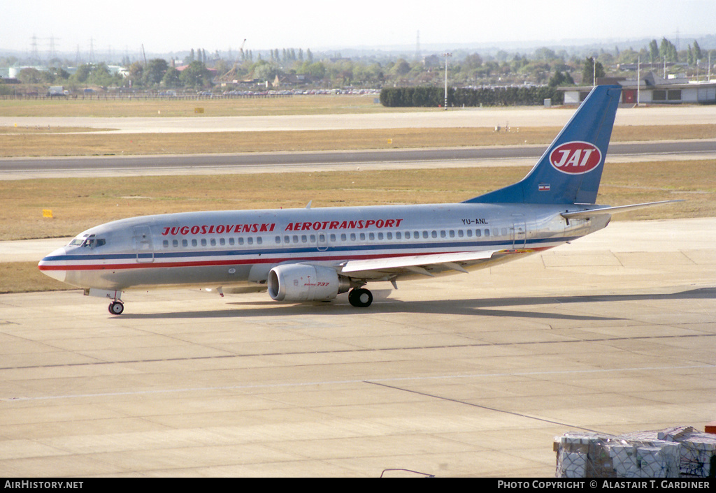 Aircraft Photo of YU-ANL | Boeing 737-3H9 | JAT Yugoslav Airlines | AirHistory.net #86886