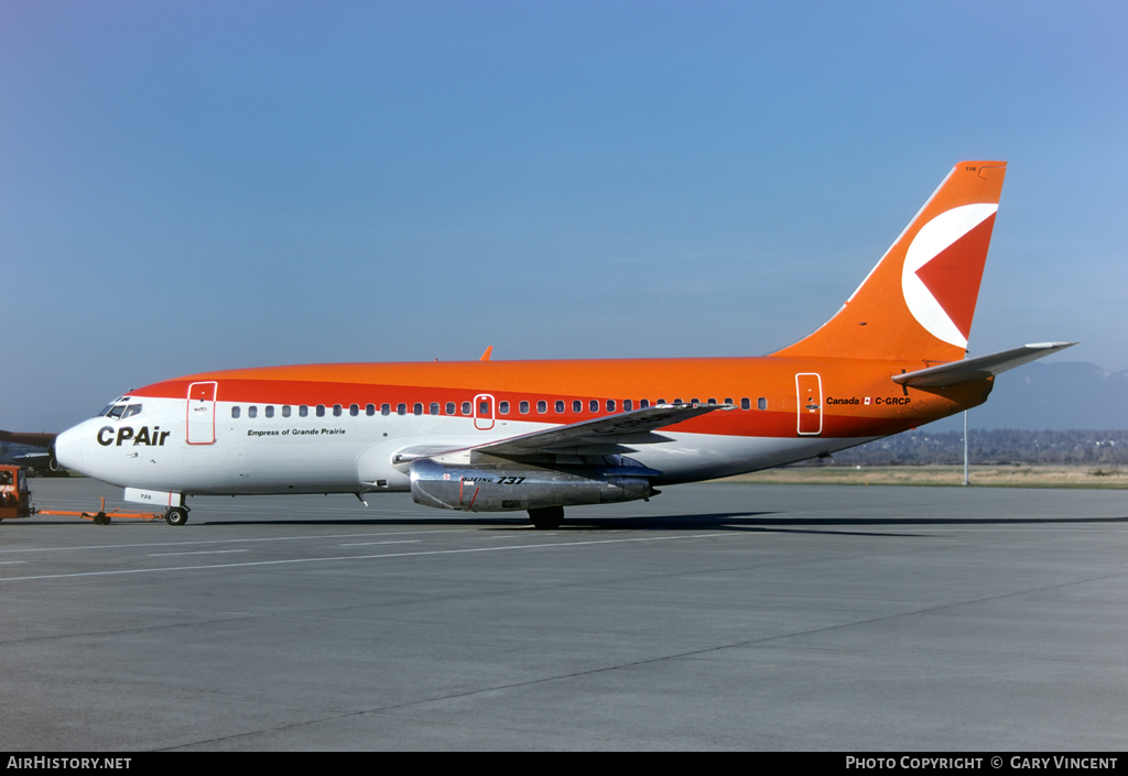 Aircraft Photo of C-GRCP | Boeing 737-2K2/Adv | CP Air | AirHistory.net #87110