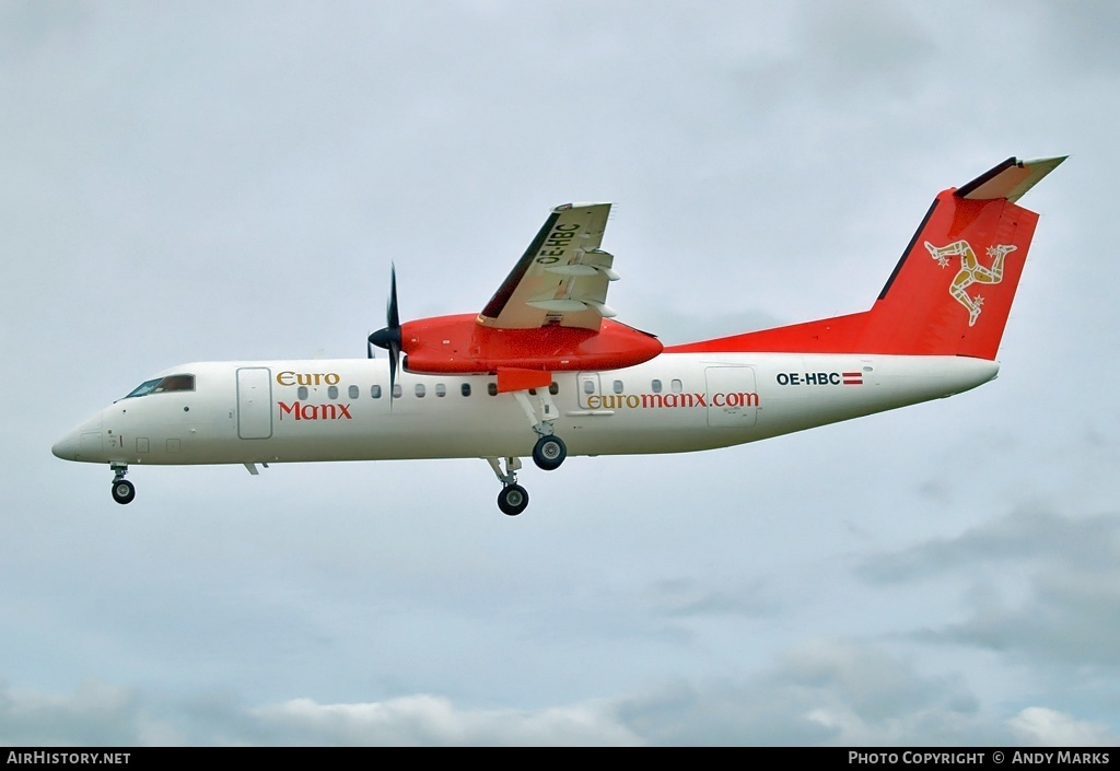 Aircraft Photo of OE-HBC | Bombardier DHC-8-311Q Dash 8