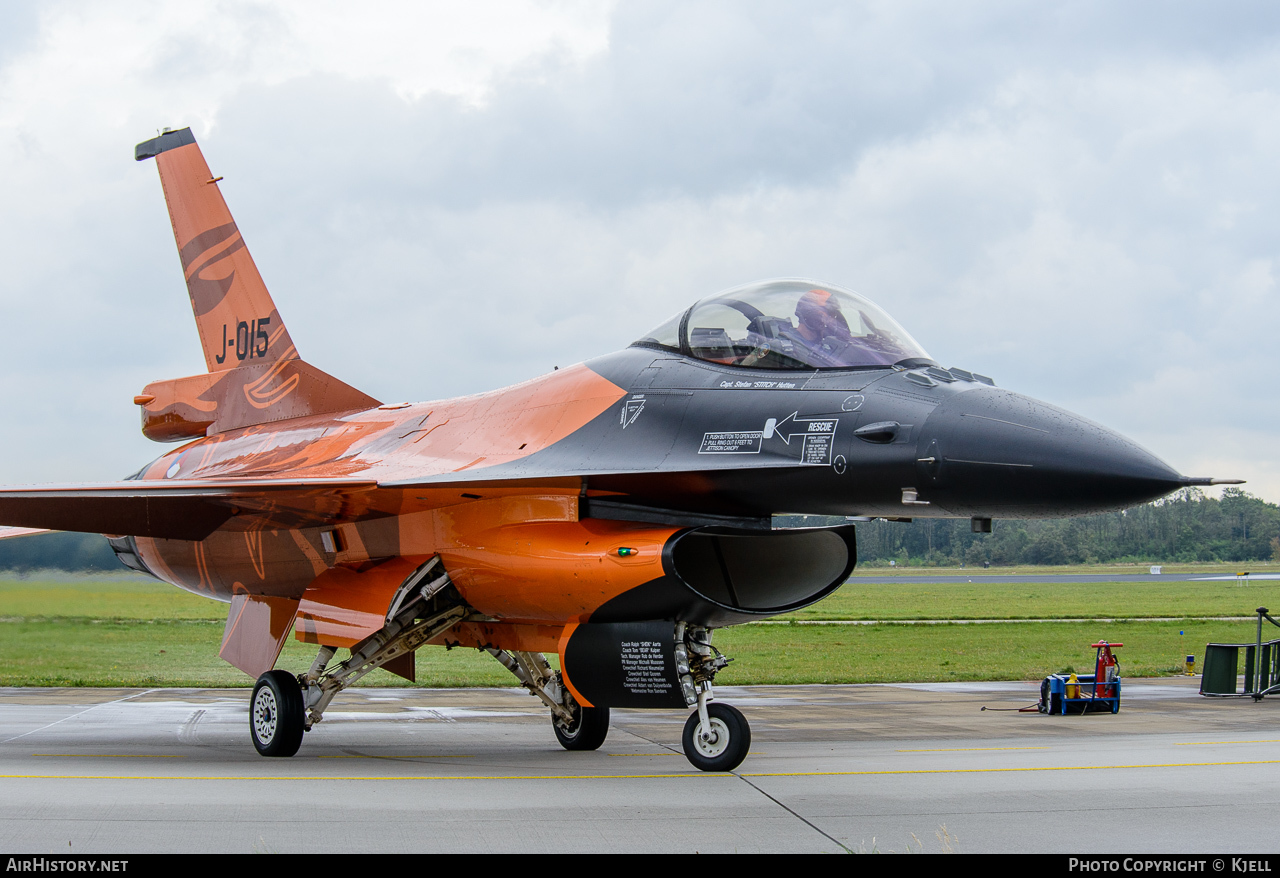 Aircraft Photo of J-015 | General Dynamics F-16AM Fighting Falcon | Netherlands - Air Force | AirHistory.net