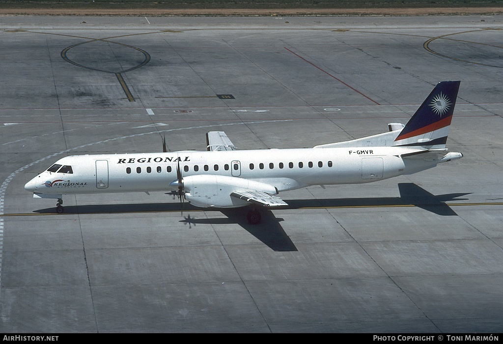 Aircraft Photo of F-GMVR | Saab 2000 | Régional Airlines | AirHistory.net #98272