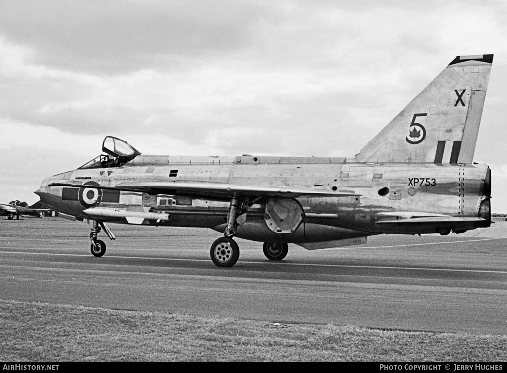 Aircraft Photo of XP753 | English Electric Lightning F3 | UK - Air Force | AirHistory.net #111399