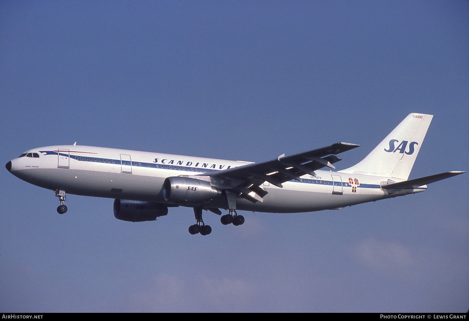 Aircraft Photo of SE-DFK | Airbus A300B2-320 | Scandinavian Airlines - SAS | AirHistory.net #111777
