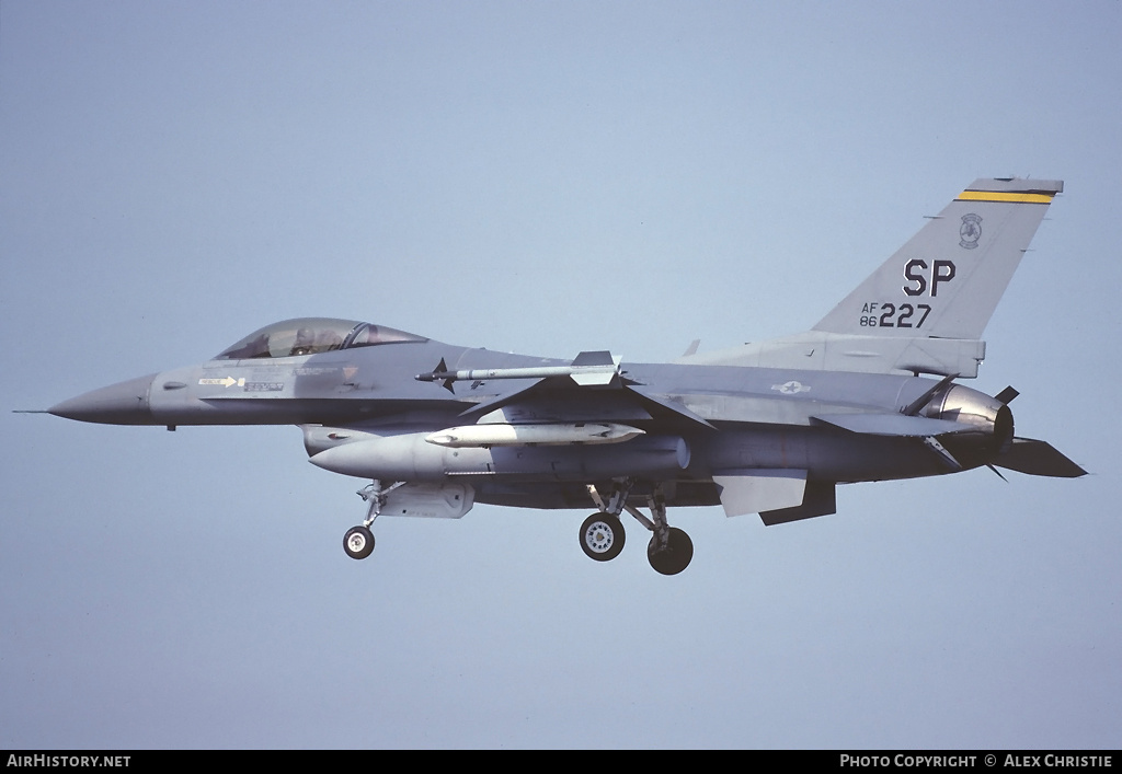 Aircraft Photo of 86-0227 | General Dynamics F-16C Fighting