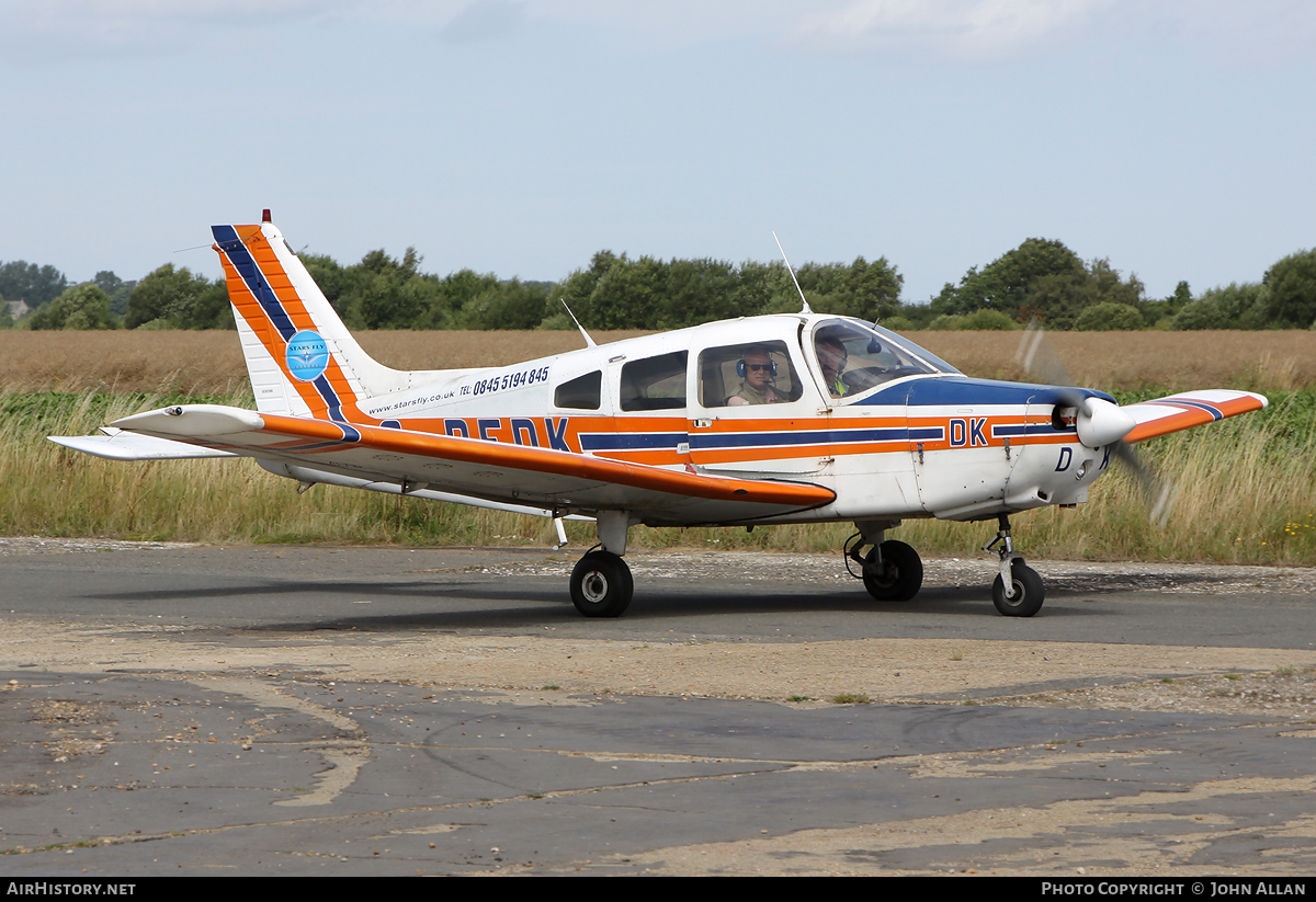 Aircraft Photo of G-BFDK | Piper PA-28-161 Cherokee Warrior II | Stars Fly Flying Club | AirHistory.net