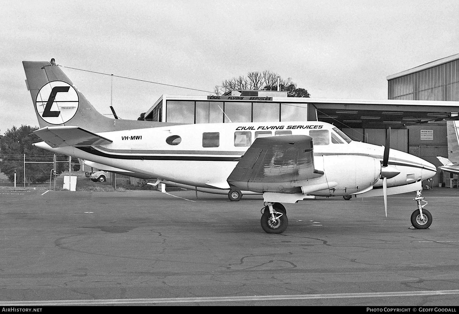 Aircraft Photo of VH-MWI | Beech 70 Queen Air | Civil Flying Services | AirHistory.net #118662