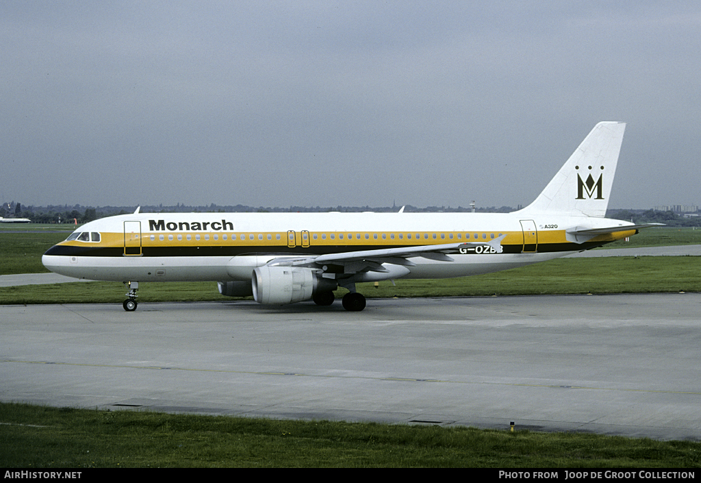 Aircraft Photo of G-OZBB | Airbus A320-211 | Monarch Airlines | AirHistory.net #120934