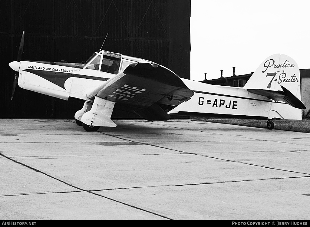 Aircraft Photo of G-APJE | Percival P-40 Prentice T1 | Maitland Air Charters | AirHistory.net #121111