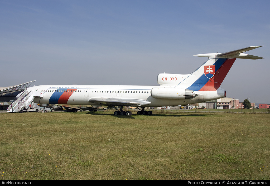 Aircraft Photo of OM-BYO | Tupolev Tu-154M | Slovakia - Government | AirHistory.net #124398