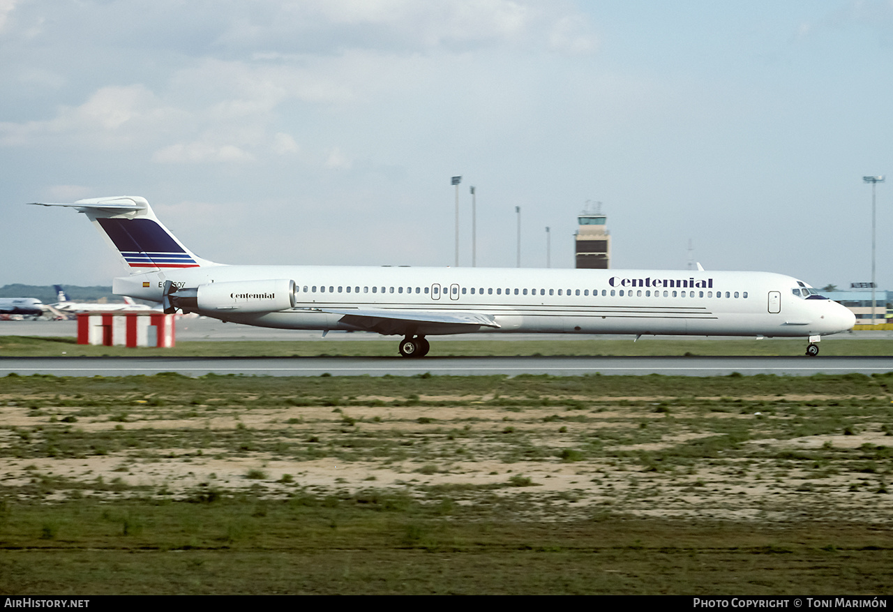Aircraft Photo of EC-607 | McDonnell Douglas MD-83 (DC-9-83) | Centennial Airlines | AirHistory.net