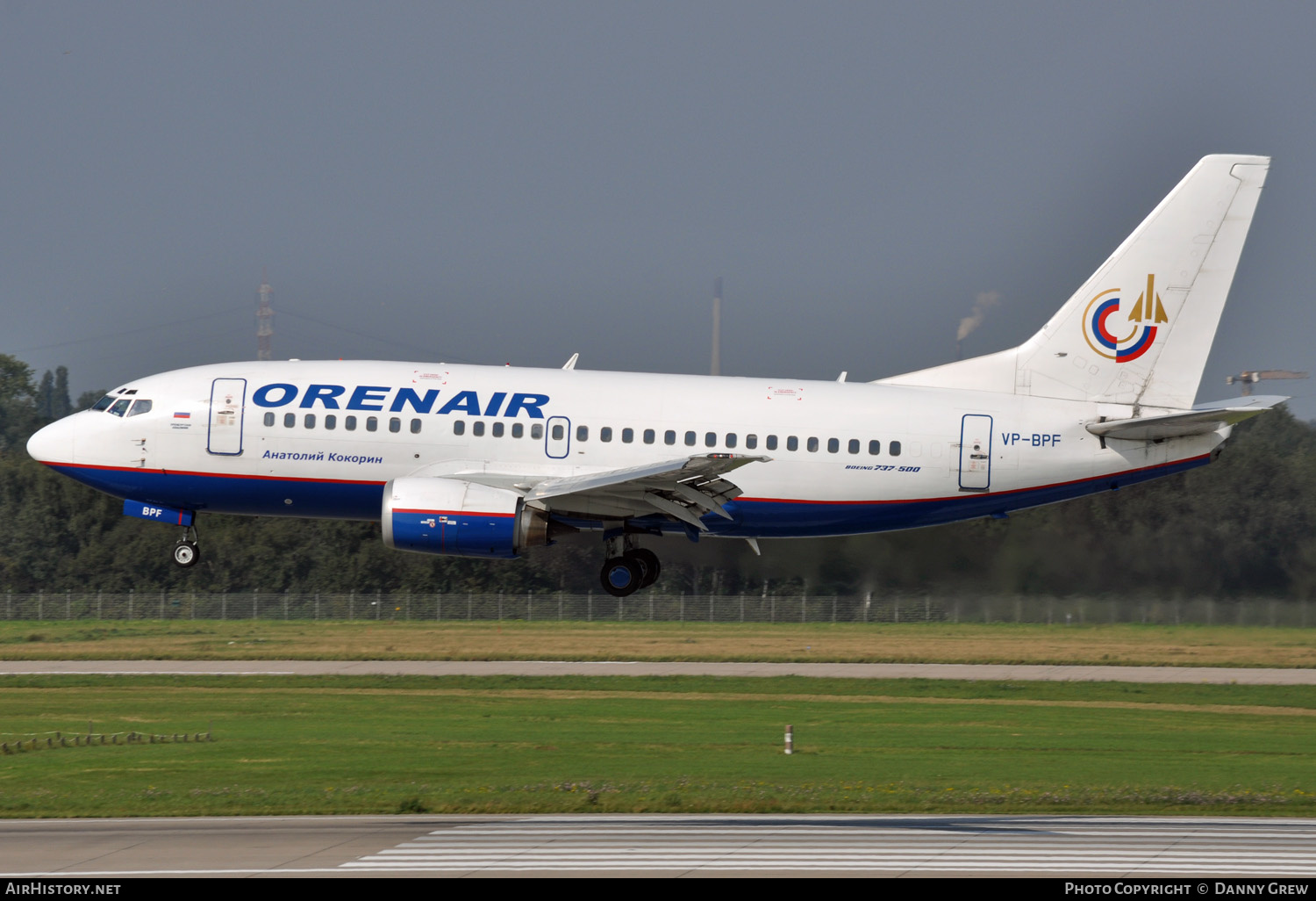 Aircraft Photo of VP-BPF | Boeing 737-5H6 | Orenair | AirHistory.net