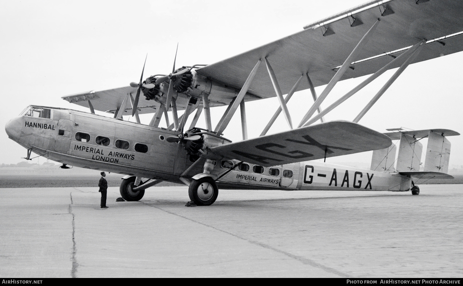 Aircraft Photo of G-AAGX | Handley Page HP-42 | Imperial Airways | AirHistory.net