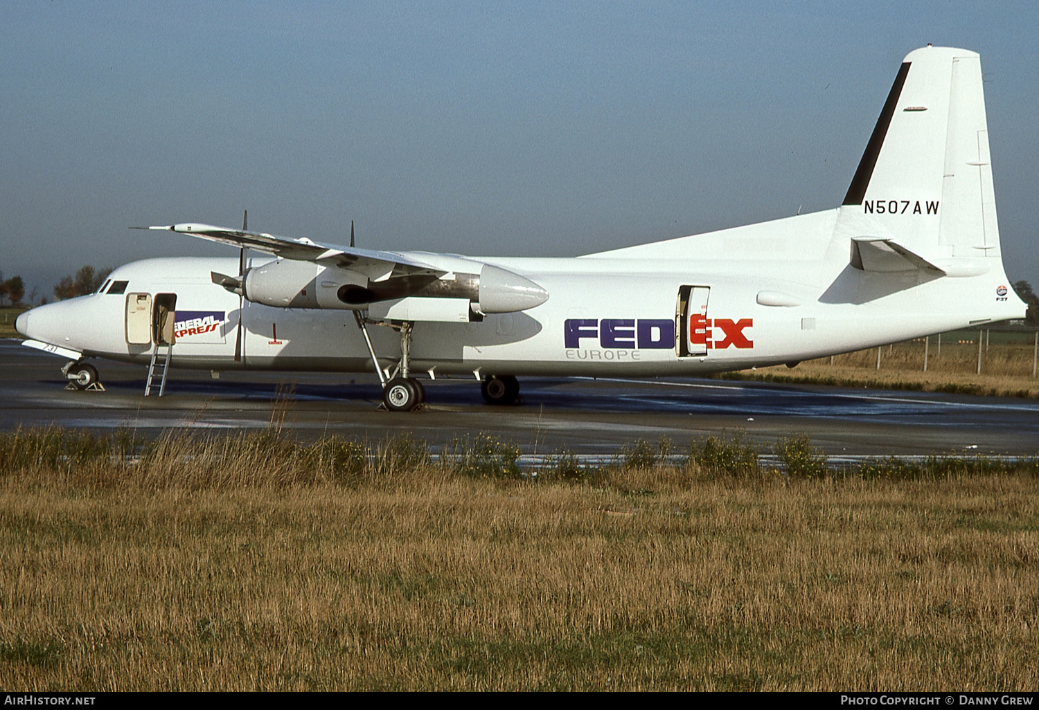 Aircraft Photo of N504AW / N507AW | Fokker F27-500 Friendship | Fedex - Federal Express Europe | AirHistory.net
