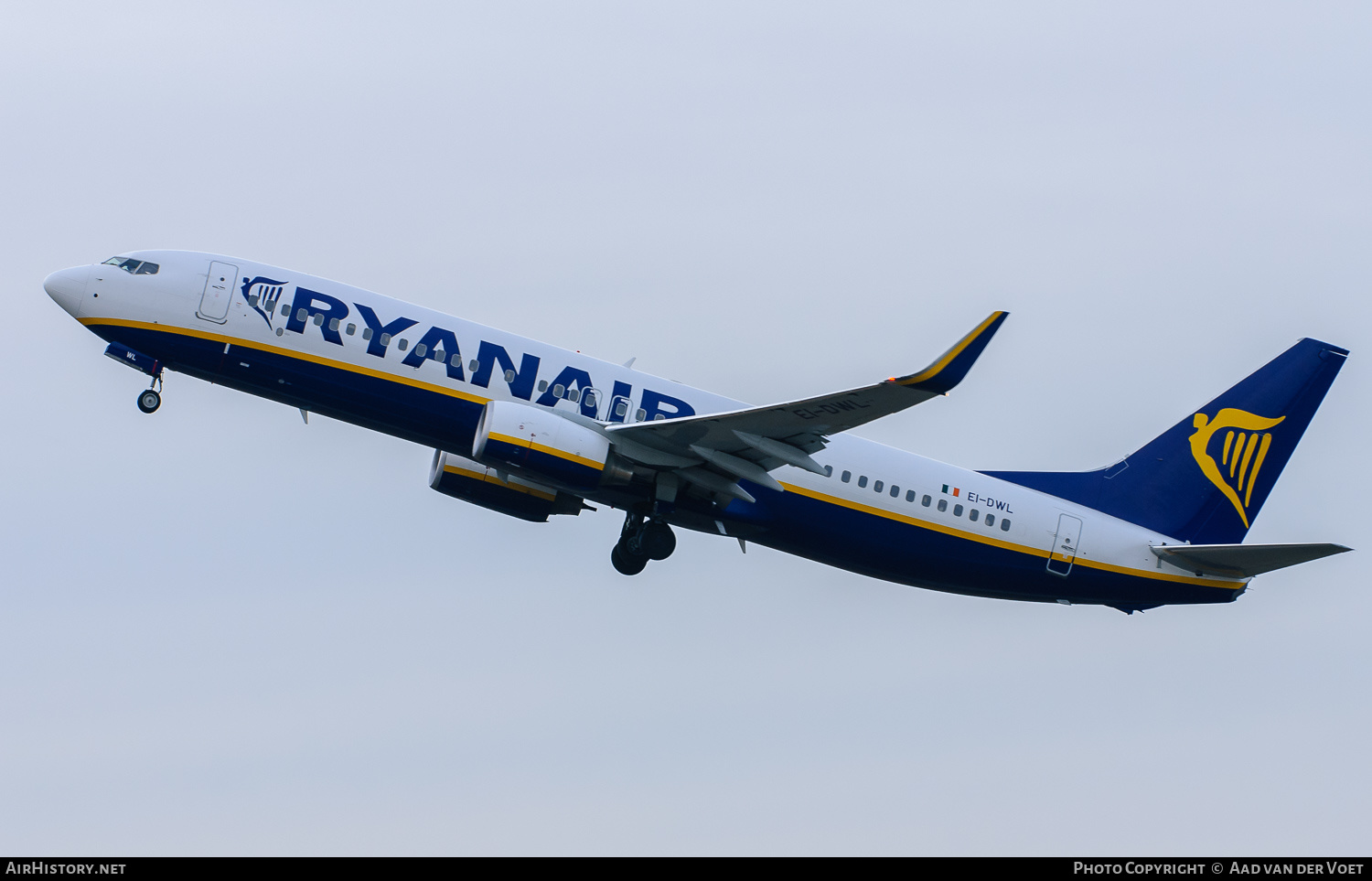 Aircraft Photo of EI-DWL | Boeing 737-8AS | Ryanair | AirHistory.net