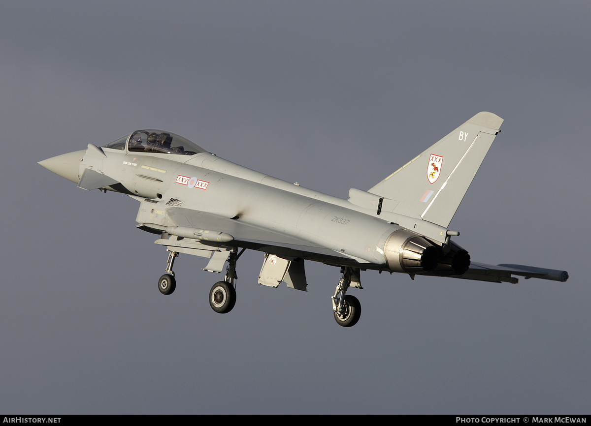 Aircraft Photo of ZK337 | Eurofighter EF-2000 Typhoon FGR4 | UK - Air Force | AirHistory.net #151100