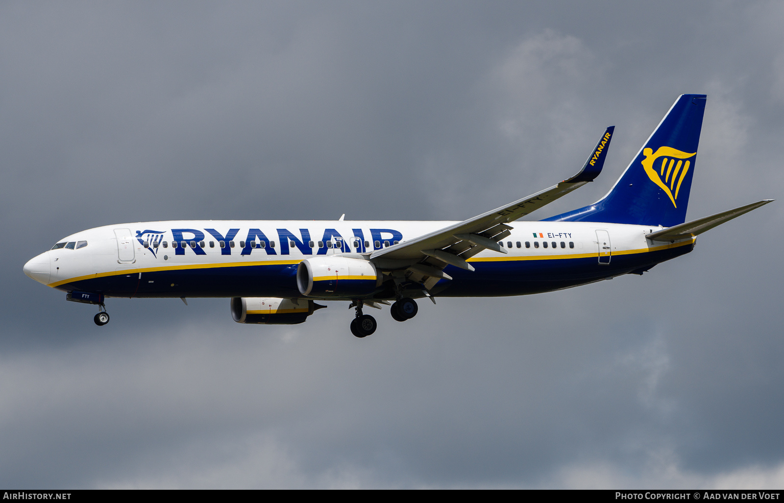 Aircraft Photo of EI-FTY | Boeing 737-8AS | Ryanair | AirHistory.net