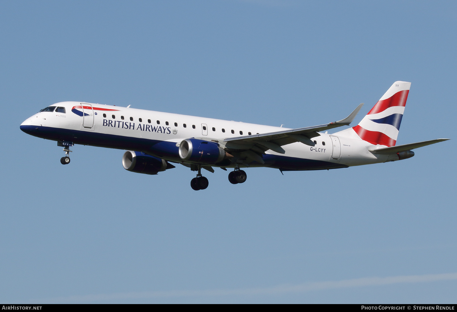 Aircraft Photo of G-LCYY | Embraer 190SR (ERJ-190-100SR) | British Airways | AirHistory.net