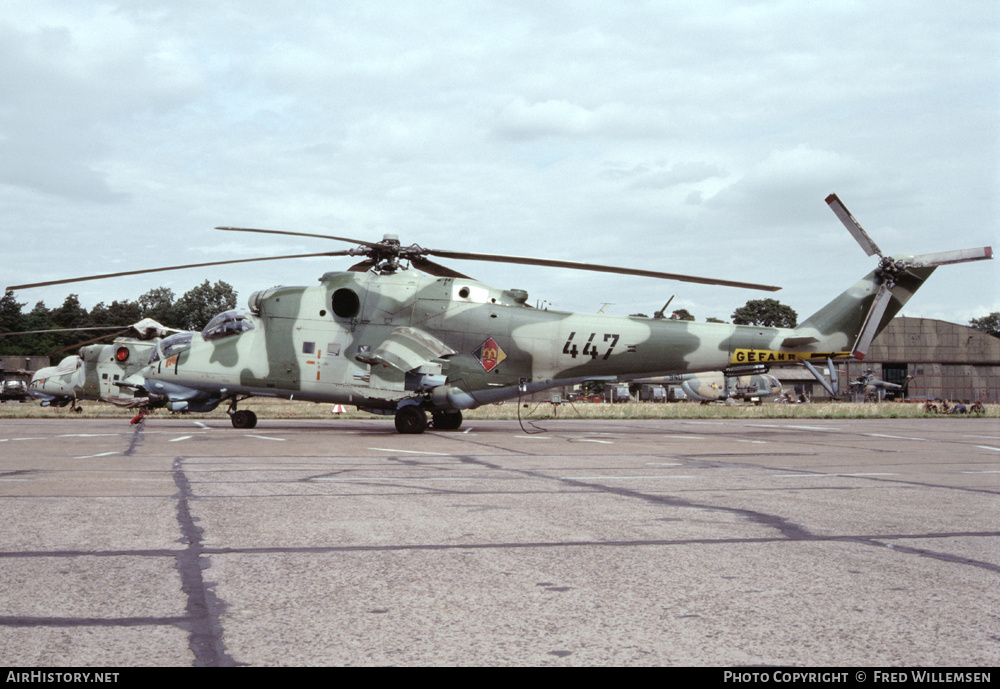 Aircraft Photo of 447 | Mil Mi-24D | East Germany - Air Force | AirHistory.net