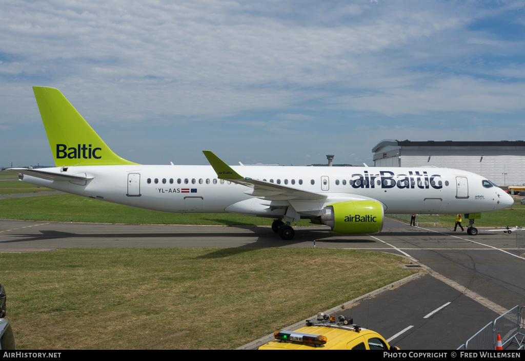 Aircraft Photo of YL-AAS | Airbus A220-300 (CS300) | AirBaltic | AirHistory.net