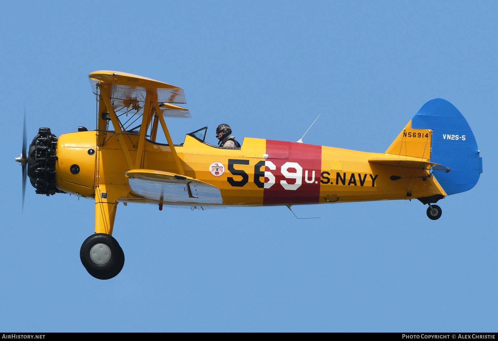 Aircraft Photo of N56914 | Boeing PT-17 Kaydet (A75N1) | USA - Navy | AirHistory.net