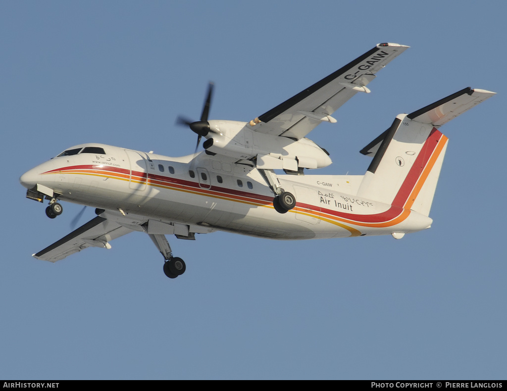 Aircraft Photo of C-GAIW | De Havilland Canada DHC-8-102 Dash 8 | Air Inuit | AirHistory.net