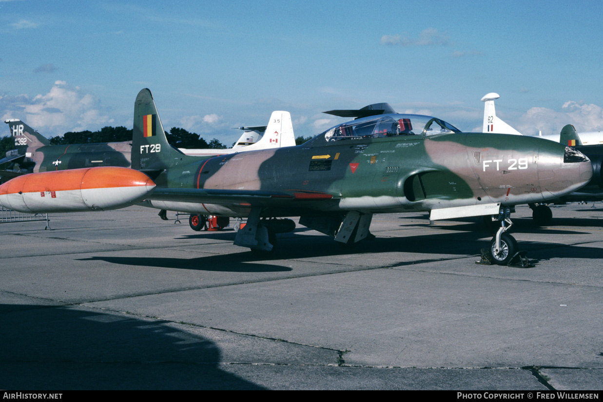 Aircraft Photo of FT29 | Lockheed T-33A | Belgium - Air Force | AirHistory.net