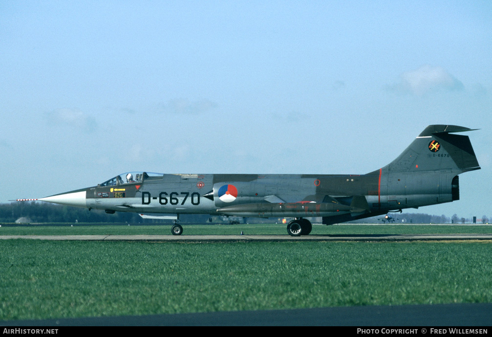 Aircraft Photo of D-6670 | Lockheed F-104G Starfighter | Netherlands - Air Force | AirHistory.net
