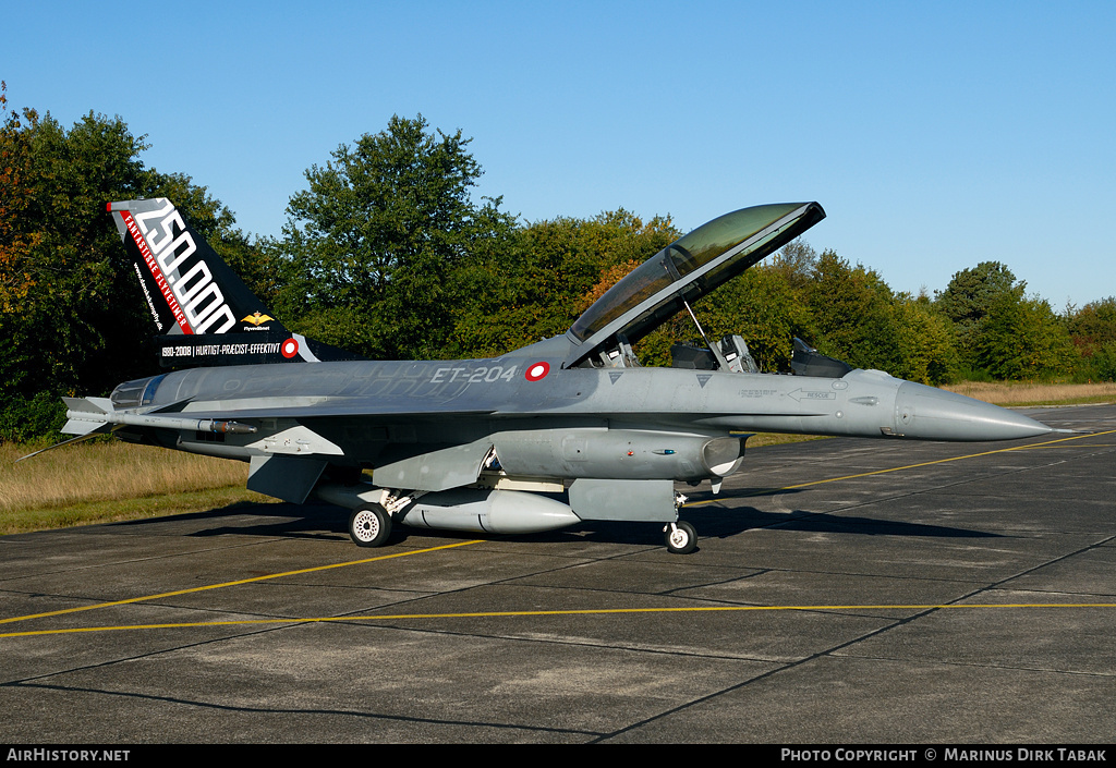 Aircraft Photo of ET-204 | General Dynamics F-16BM Fighting Falcon | Denmark - Air Force | AirHistory.net