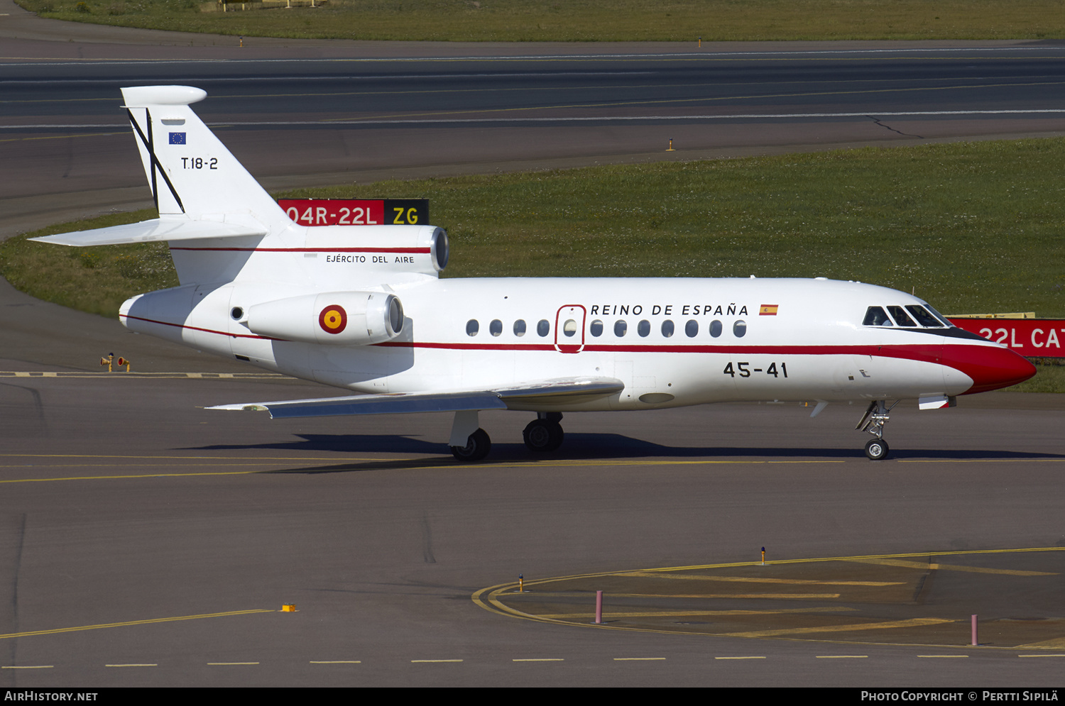 Aircraft Photo of T18-2 | Dassault Falcon 900B | Spain - Air Force | AirHistory.net