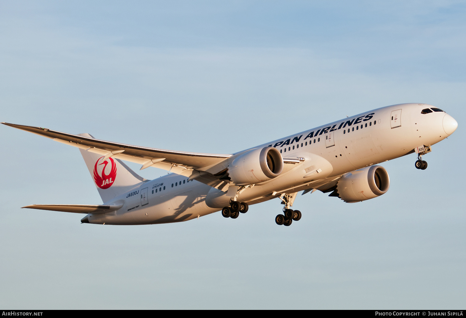Aircraft Photo of JA830J | Boeing 787-8 Dreamliner | Japan Airlines - JAL | AirHistory.net