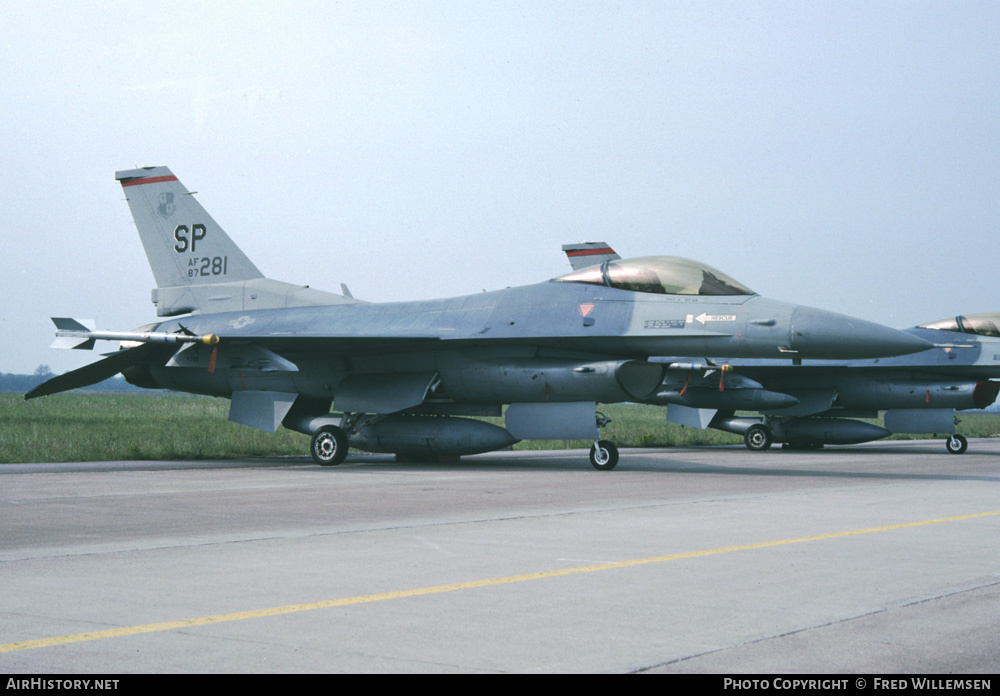 Aircraft Photo of 87-0281 / 87-281 | General Dynamics F-16C Fighting Falcon | USA - Air Force | AirHistory.net