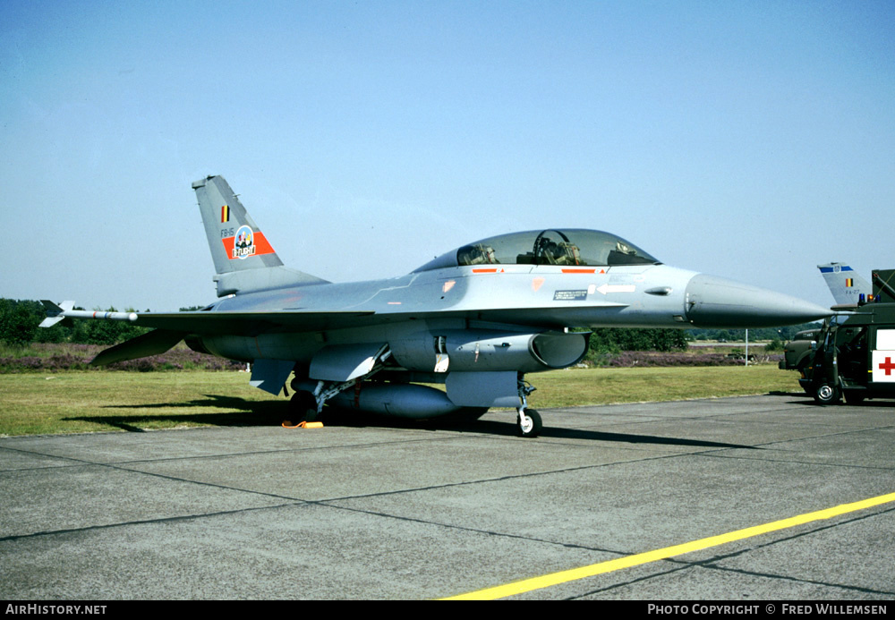 Aircraft Photo of FB-15 | General Dynamics F-16B Fighting Falcon | Belgium - Air Force | AirHistory.net #177413