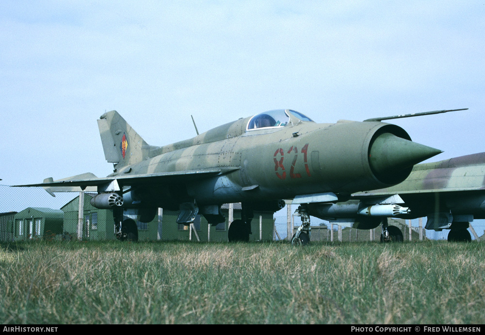 Aircraft Photo of 821 | Mikoyan-Gurevich MiG-21PF | East Germany - Air Force | AirHistory.net