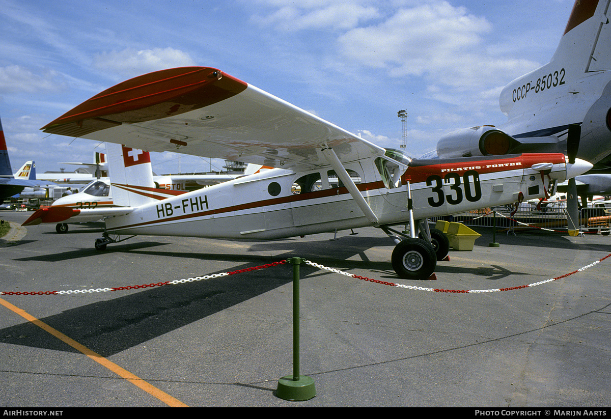 Aircraft Photo of HB-FHH | Pilatus PC-6/B2-H2 Turbo Porter | AirHistory.net #178008