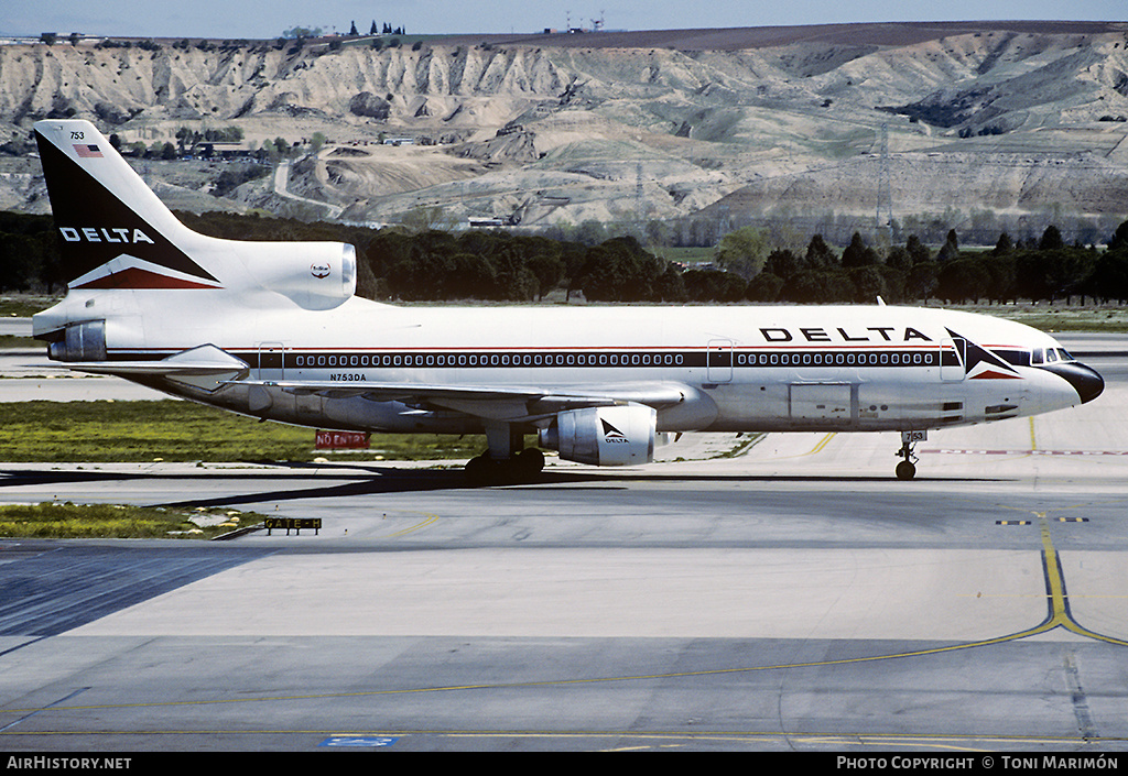Aircraft Photo of N753DA | Lockheed L-1011-385-3 TriStar 500 | Delta Air Lines | AirHistory.net #179315