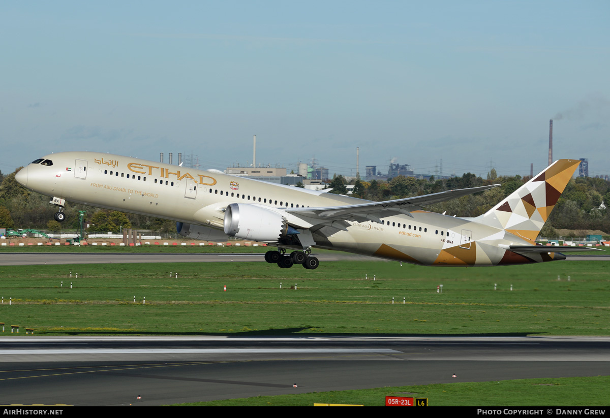 Aircraft Photo of A6-BNA | Boeing 787-9 Dreamliner | Etihad Airways | AirHistory.net #179377
