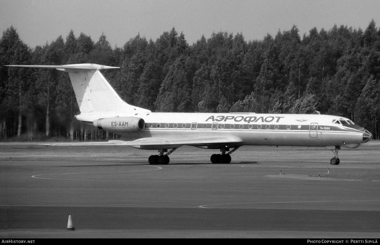Aircraft Photo of ES-AAM | Tupolev Tu-134A | Aeroflot | AirHistory.net #181130