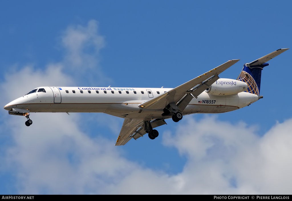 Aircraft Photo of N18557 | Embraer ERJ-145LR (EMB-145LR) | Continental Express | AirHistory.net #183861
