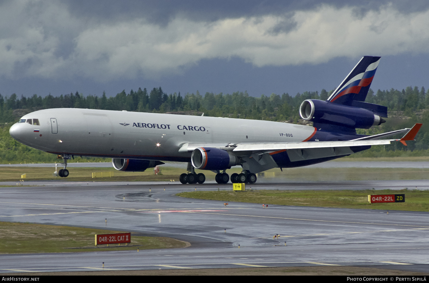 Aircraft Photo of VP-BDQ | McDonnell Douglas MD-11F | Aeroflot - Russian Airlines Cargo | AirHistory.net #187396