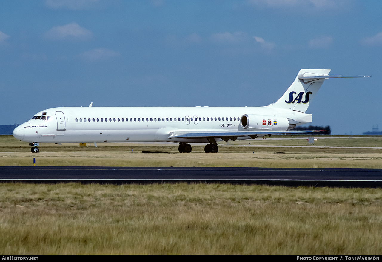 Aircraft Photo of SE-DIP | McDonnell Douglas MD-87 (DC-9-87) | Scandinavian Airlines - SAS | AirHistory.net #195712