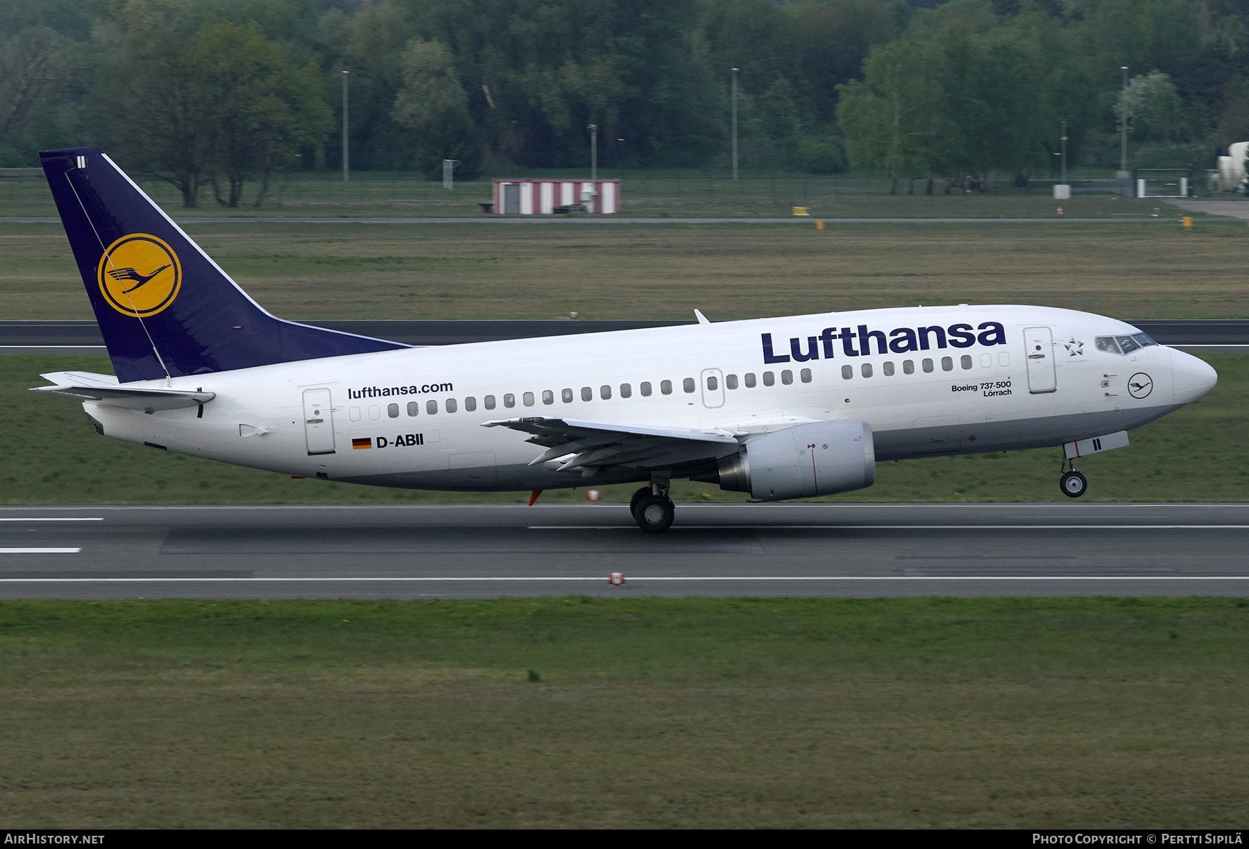 Aircraft Photo of D-ABII | Boeing 737-530 | Lufthansa | AirHistory.net #201286