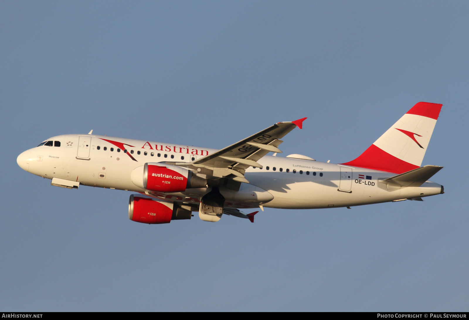Aircraft Photo of OE-LDD | Airbus A319-112 | Austrian Airlines | AirHistory.net #201450