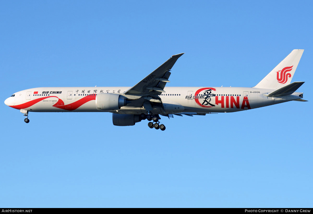 Aircraft Photo of B-2006 | Boeing 777-39L/ER | Air China | AirHistory.net #202656